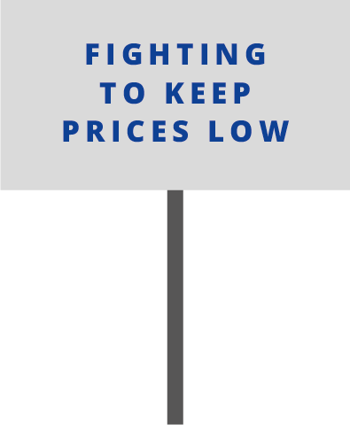 Fighting To Keep Prices Low