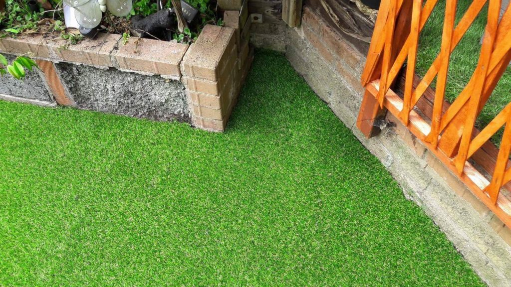 Artificial grass fitting in Pengam