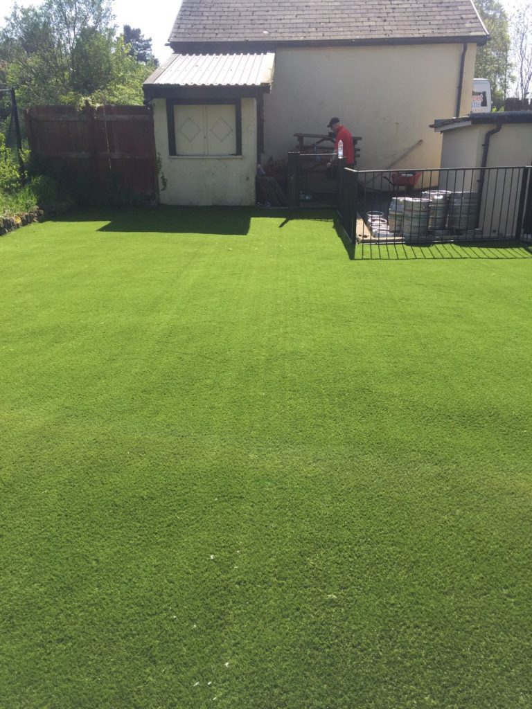 Image of artificial grass installation at Fox and Hounds pub