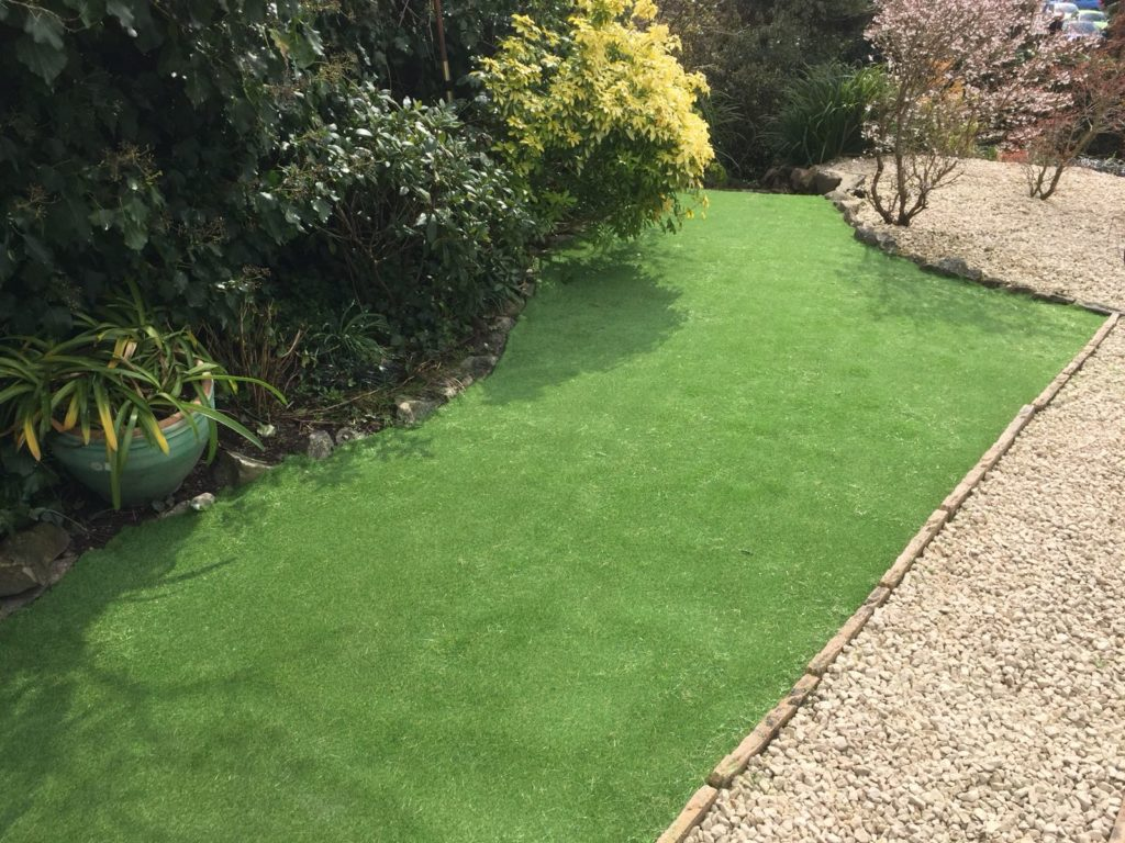 Image of artificial grass installation